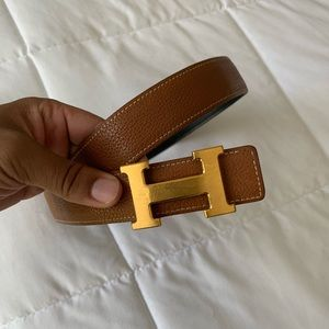 Hermès Constance reversible leather belt